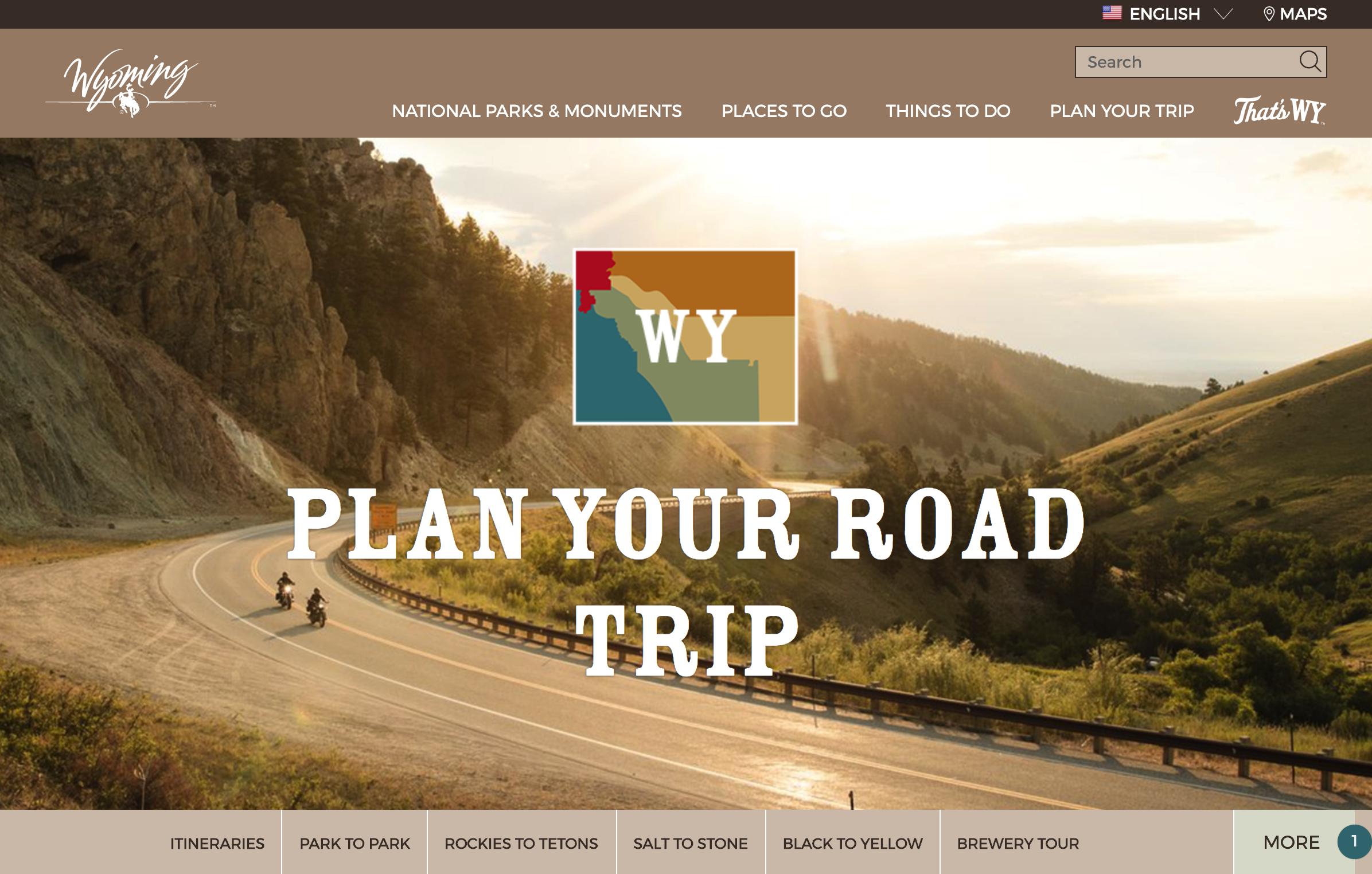 Wyoming Tourism Website