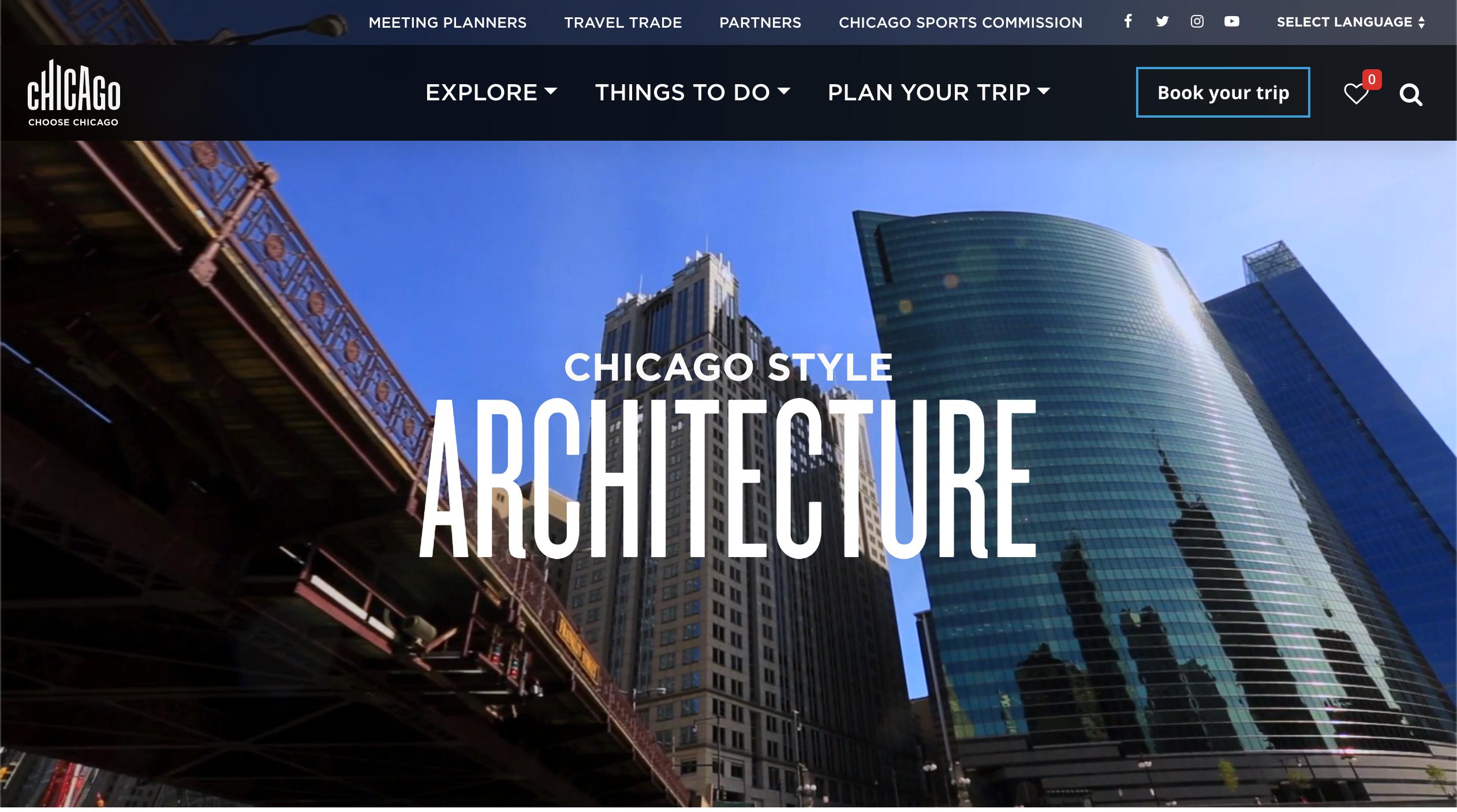Chicago Tourism Website